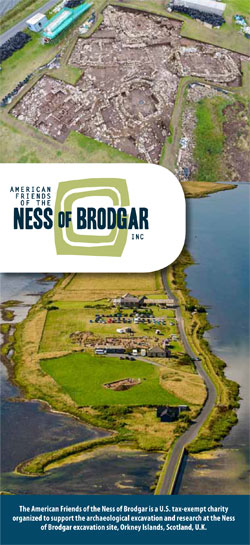Click the image to download the American Friends of the Ness of Brodgar information leaflet.