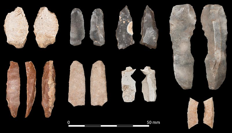 Mesolithic microliths from Ness of Brodgar