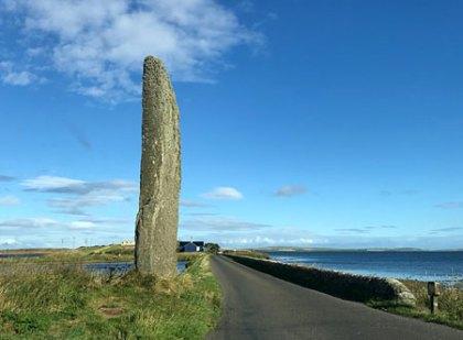 Crossing the Brig o' Brodgar. (Jo Bourne)