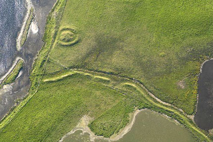 Another aerial view showing the extent of the Dyke.