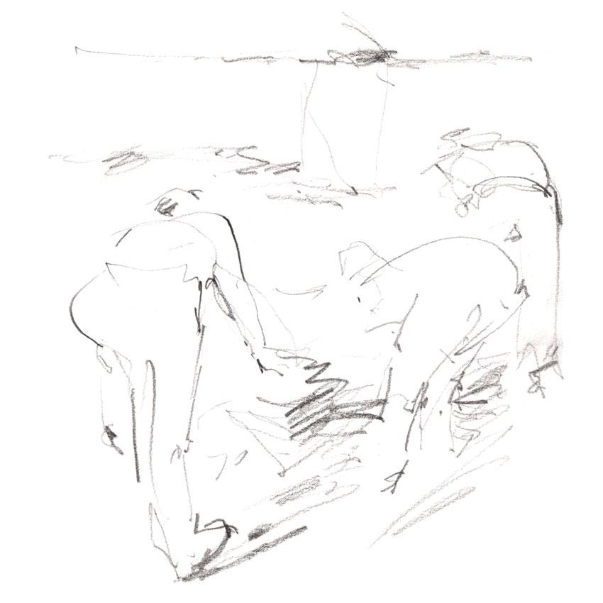 Shovelling in Trench Y. (Karen Wallis)