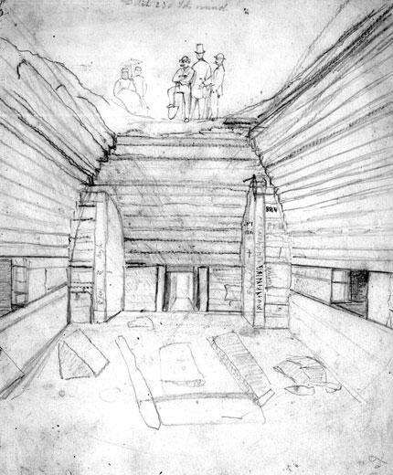 Maeshowe interior sketch c.1861