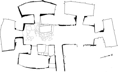 Plan of Quanterness chambered cairn. (After Renfrew 1979)