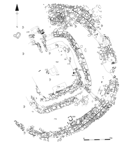 Plan of Structure Eight at the Barnhouse settlement. (Hill & Richards 2005) [4]