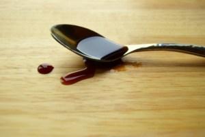 healthy mock maple on a spoon