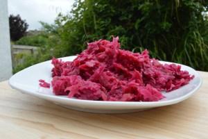 raw sauerkraut on a plate