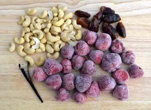 Instant Strawberry Cashew Ice Cream ingredients