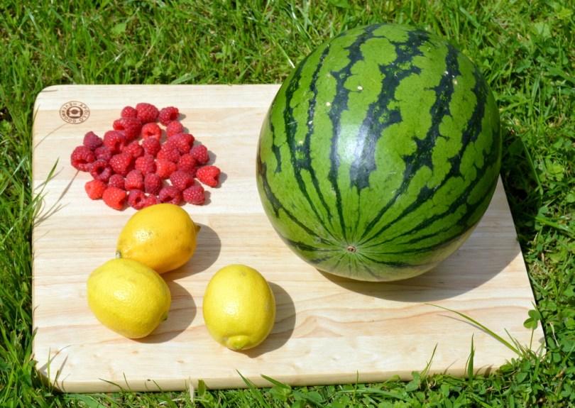 Raspberry Watermelon Lemonade ingredients