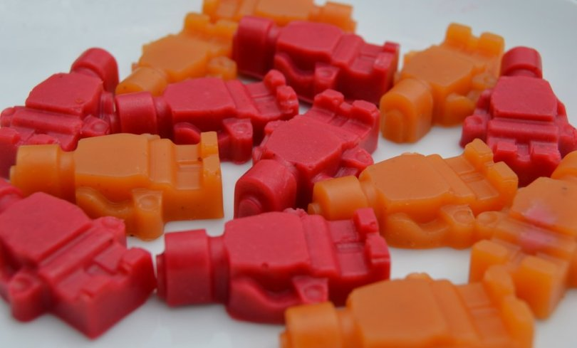 Strawberry and Apricot Fruit Juice Jelly Sweets