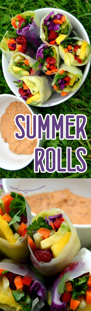 Summer Rolls with Spicy Nut Dip - Quick and easy recipe