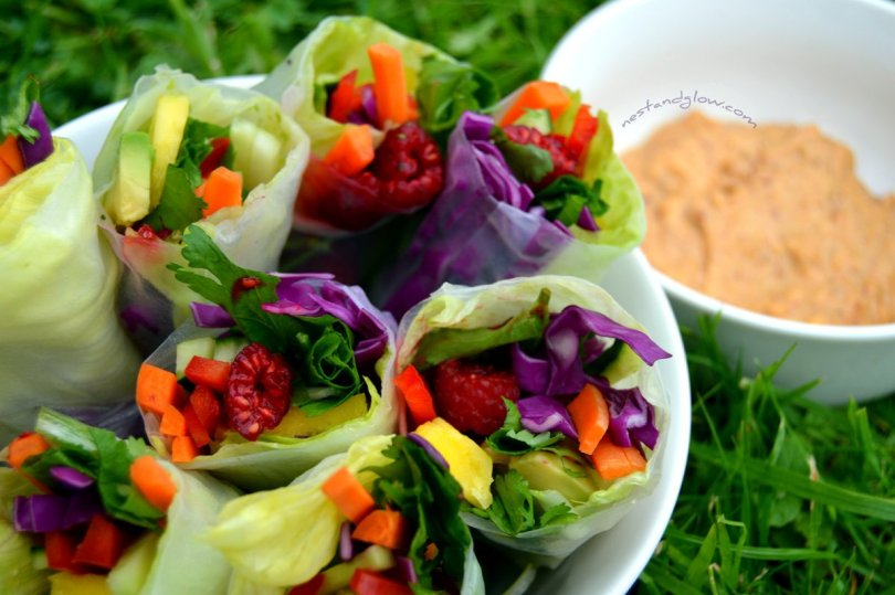 Healthy easy summer rolls vegan recipe