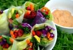 Healthy easy summer rolls vegan recipe