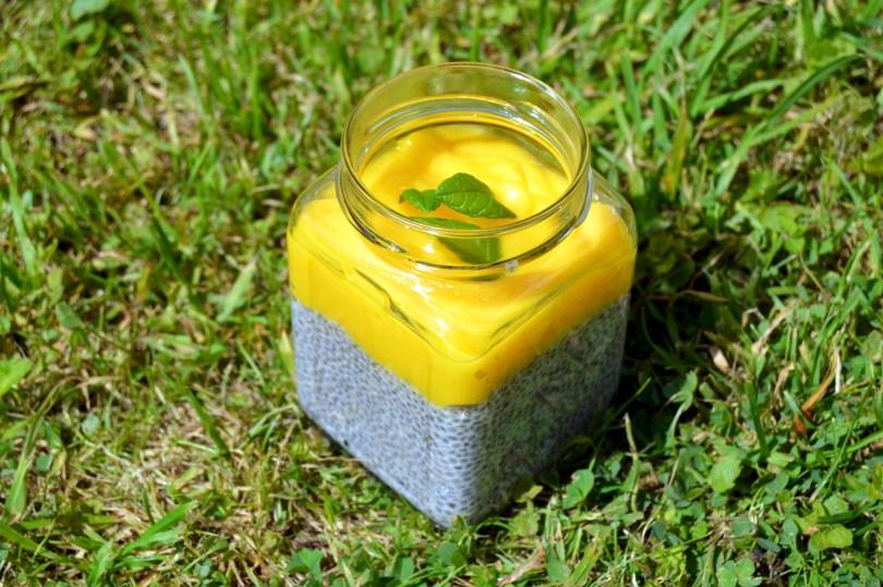 Mango Lime Chia Pudding Jar