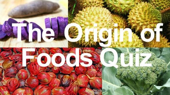 origin of food quiz
