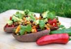 Tex-Mex Loaded Sweet Potato Skins Recipe