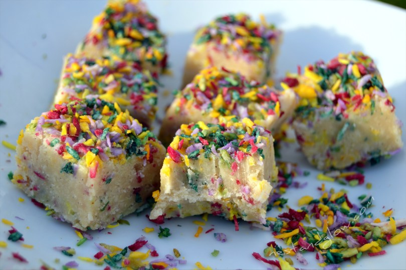 Cashew Vanilla Fudge with Natural Sprinkles Recipe
