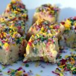 Cashew Vanilla Fudge with Natural Sprinkles Recipe