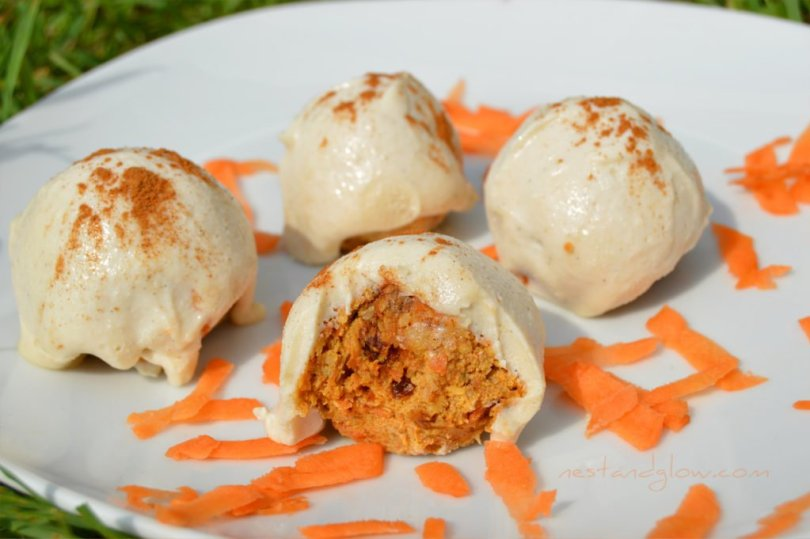 Raw Carrot Cake Truffles