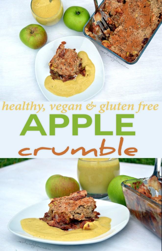 healthy vegan apple crumble