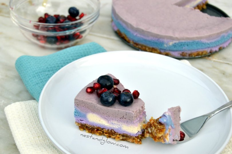 plant based cotton candy cheesecake