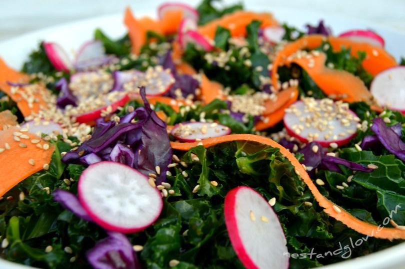 delicious kale recipe close up