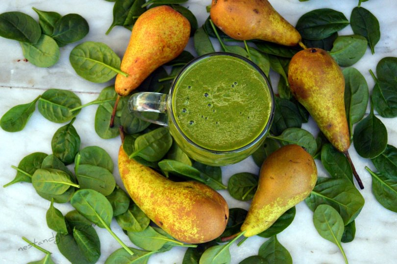 Hemp Protein Pear Spinach Smoothie Recipe