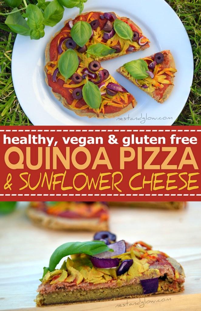 Gluten free easy quinoa crust pizza recipe