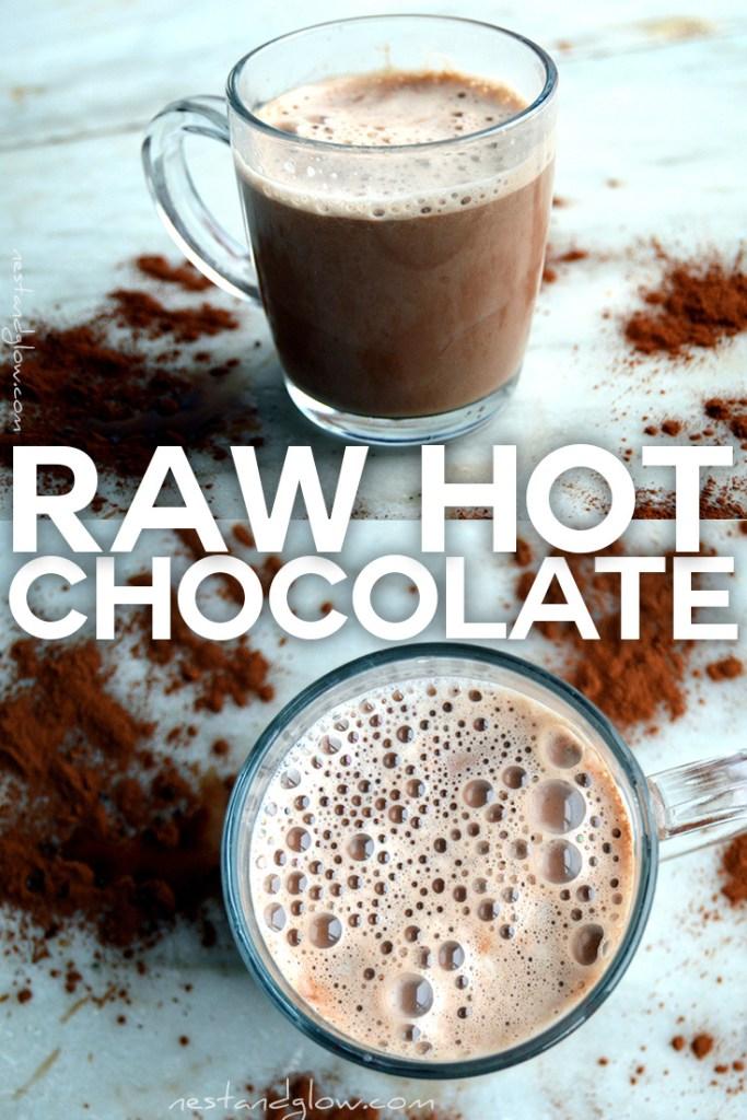 Easy to make vegan dairy free sugar free hot chocolate
