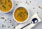 Roasted butternut squash almond butter soup