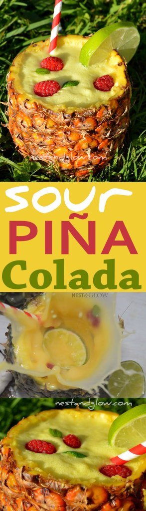 sour lime pina colada cocktail recipe