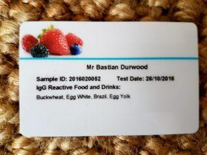 york test food card