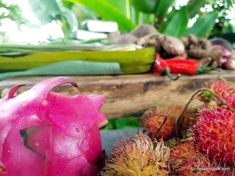 Bali fruit and vegetalbes close up