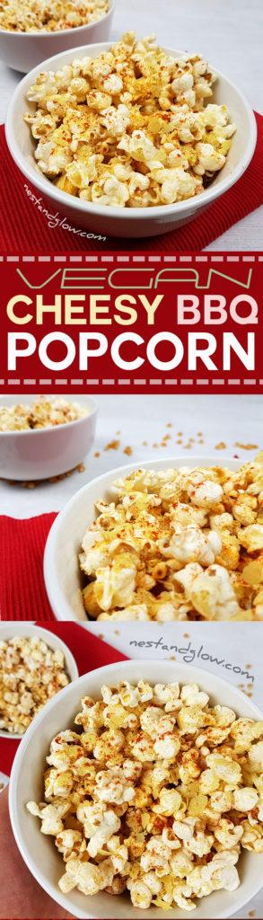 cheesy vegan bbq popcorn easy recipe