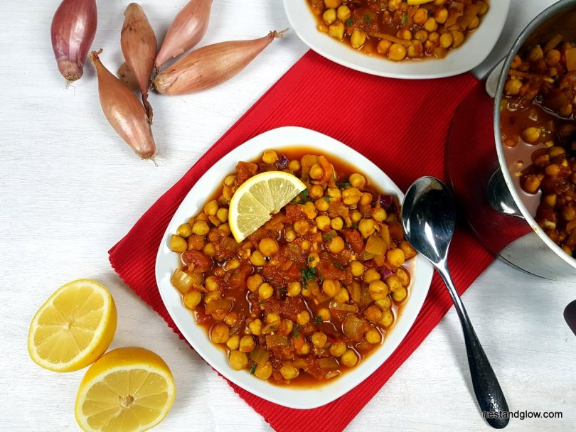 Soured Chickpea Lemon Curry Easy Healthy