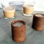 Coconut Milk Baileys with Coconut Chocolate Shot Glasses