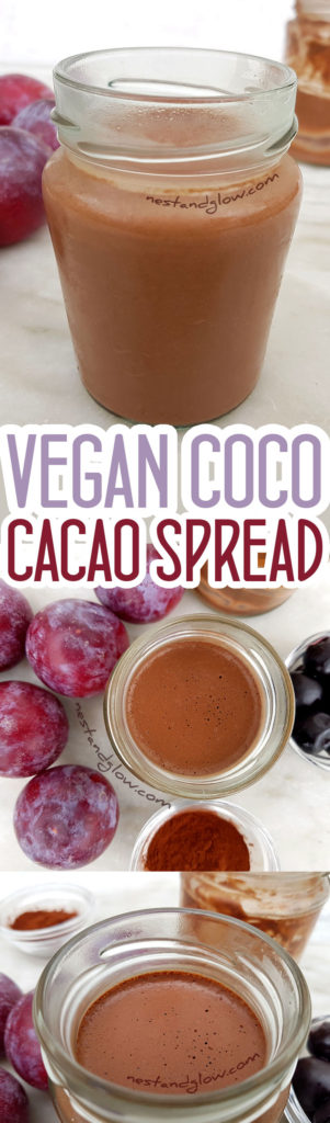 Vegan Coco Cacao Spread - Easy to make dairy free coconut chocolate spread