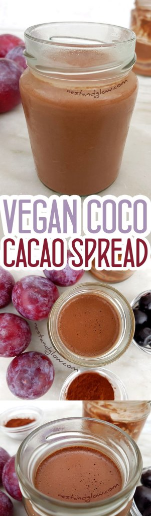 Vegan Coco Cacao Spread - Easy to make dairy free coconut chocolate spread
