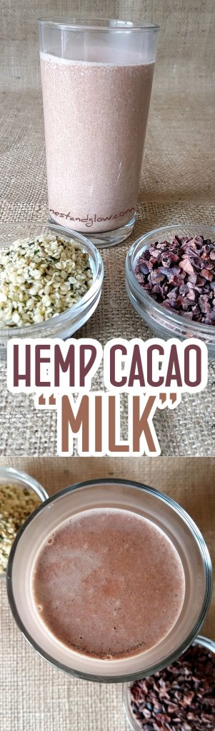 Easy to make nut and dairy free milk - Hemp Seed Cacao Chocolate Milk