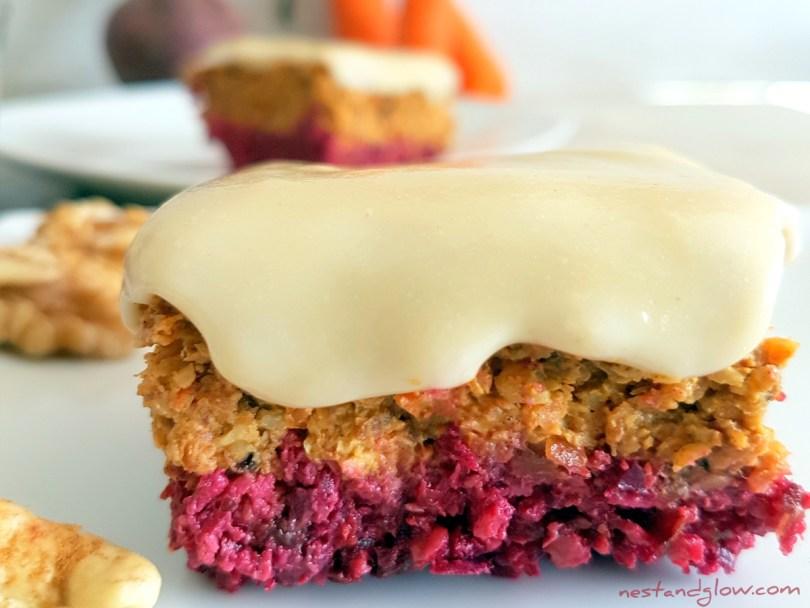 Raw Carrot Beetroot Cake Paleo Recipe