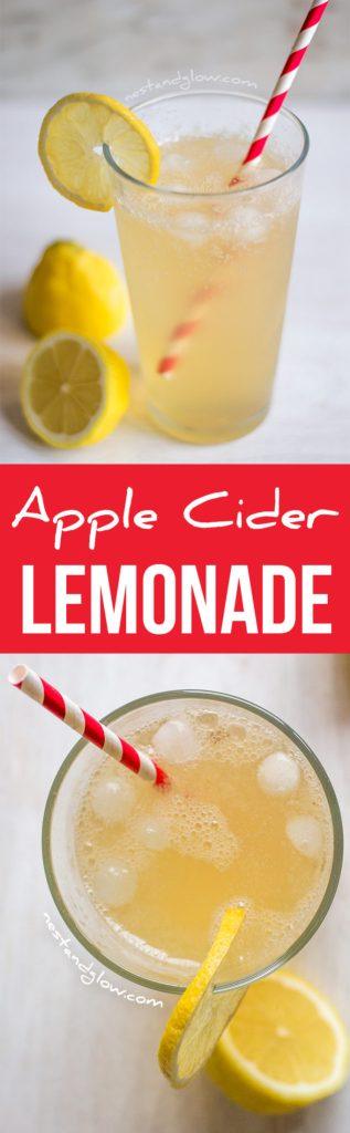 Apple Cider Vinegar Lemonade - Raw and Refined sugar-free