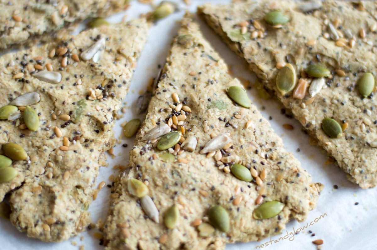 Five Seed Oatcakes Recipe - Gluten-free and Palm Oil-Free