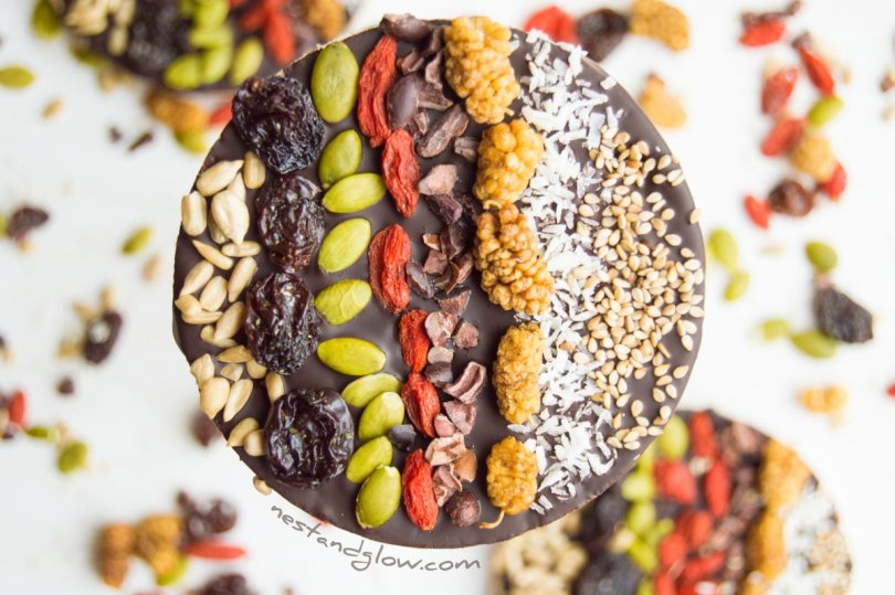 Fruit and Seed Superfood Chocolate Rice Cakes