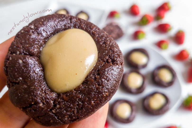Raw ChocolateThumbprint Cookie