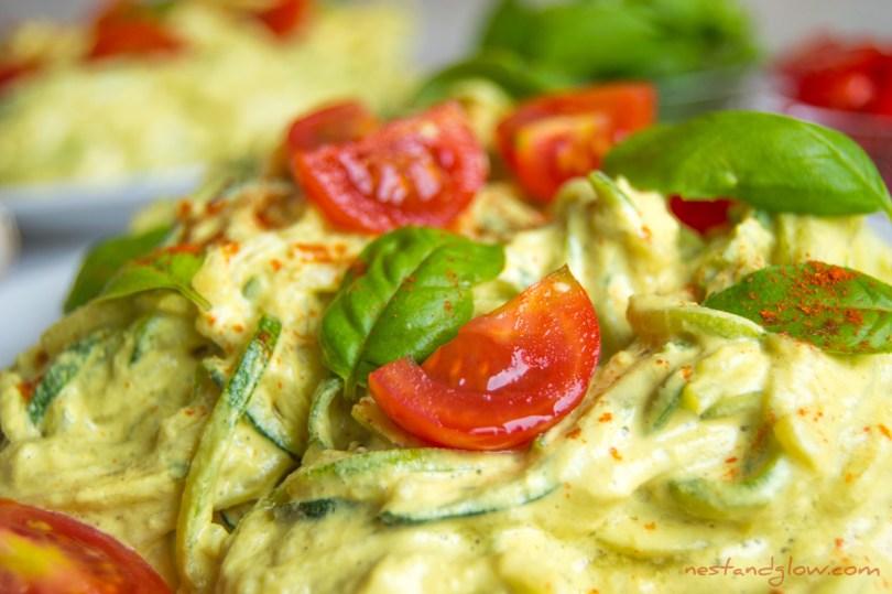 Sunflower Cheese Courgetti Vegan