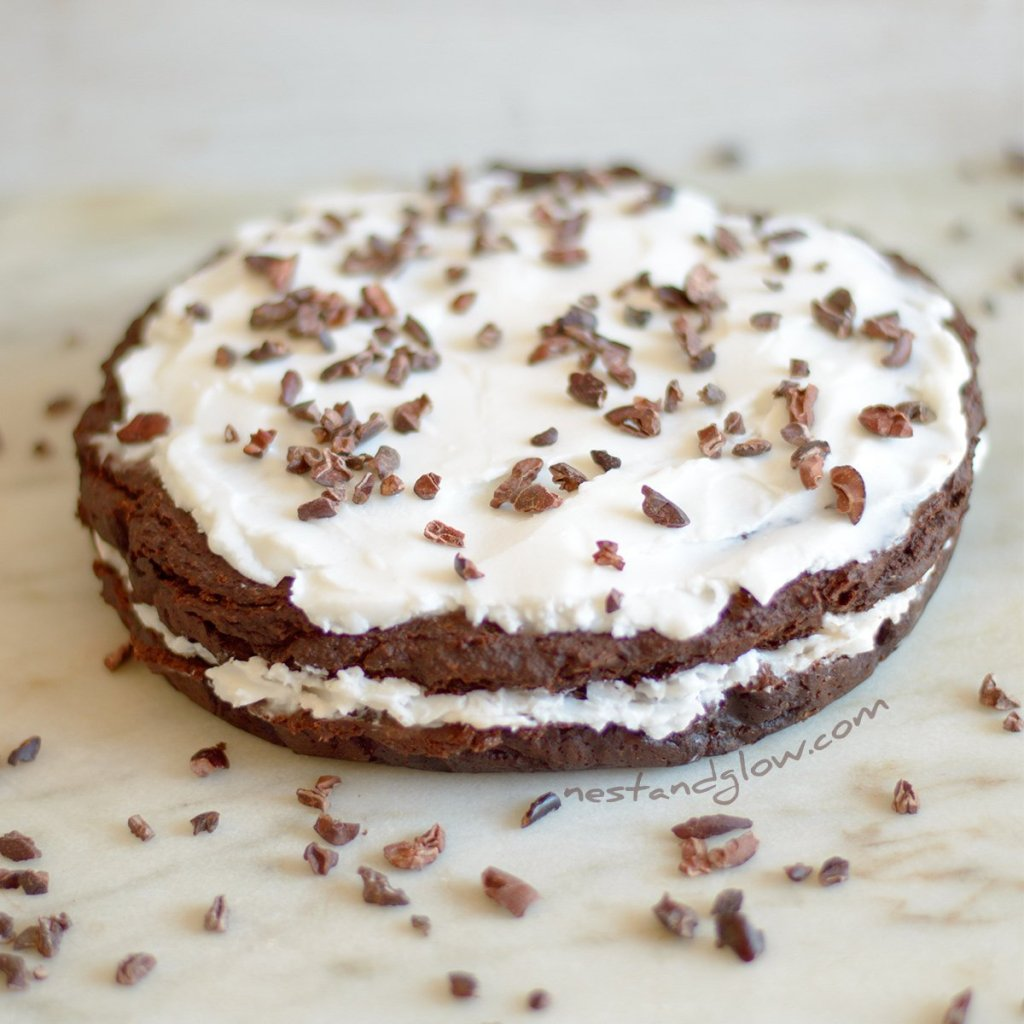 Kidney Bean and Coconut Chocolate Cake