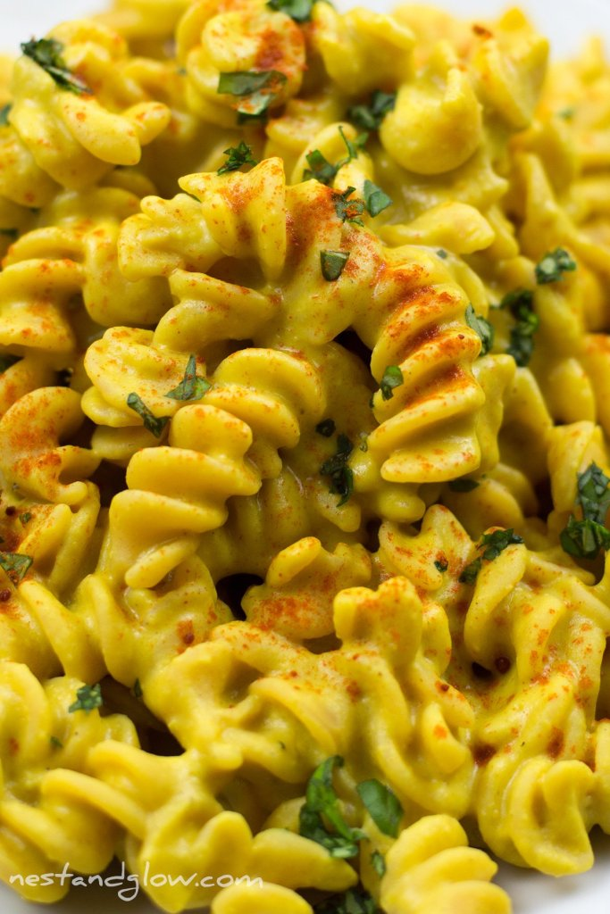 Cheesy Protein Pasta Close up