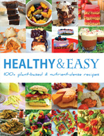 healthy and easy recipe book cover