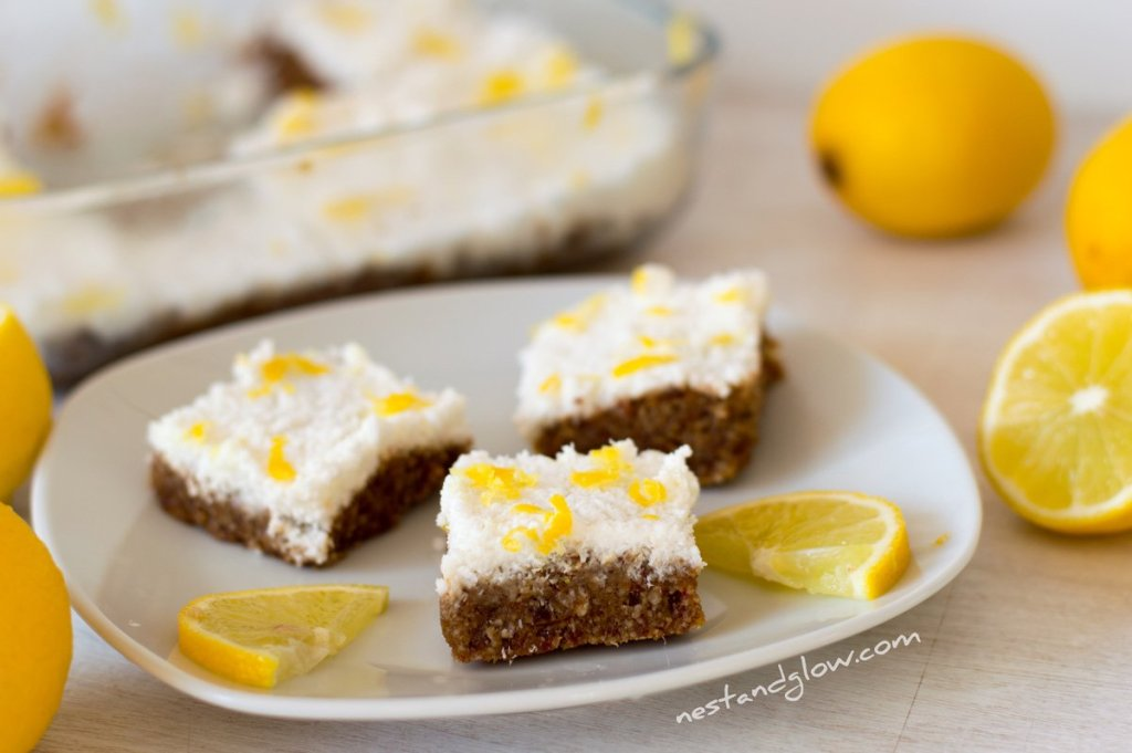 lemon drizzle raw vegan seed cake