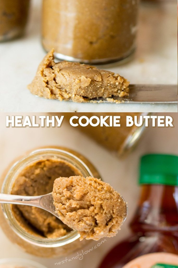 Healthy Cookie Butter Recipe - vegan and gluten-free. high protein seed butter that's nut and wheat free #vegan #veganrecipe #healthy #nutfree
