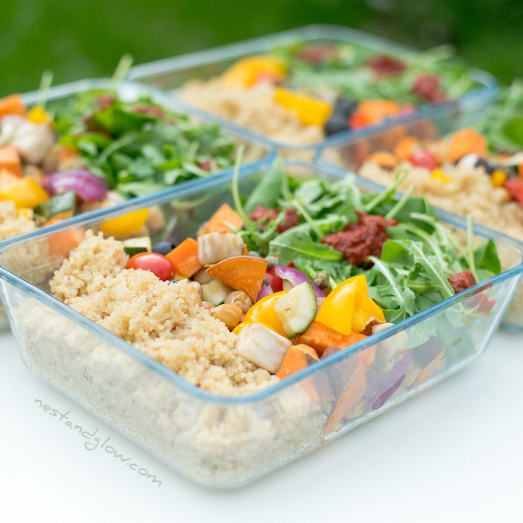 vegan protein quinoa lunch salad